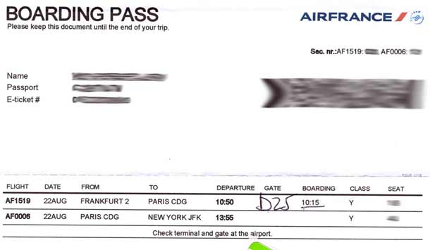BoardingPass Air France AF006