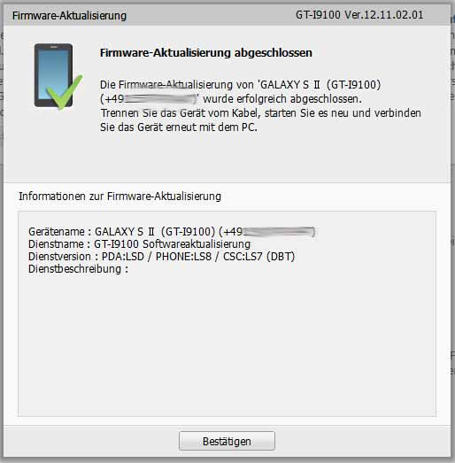 Samsung GALAXY S II auf Jelly Bean 4.1.2