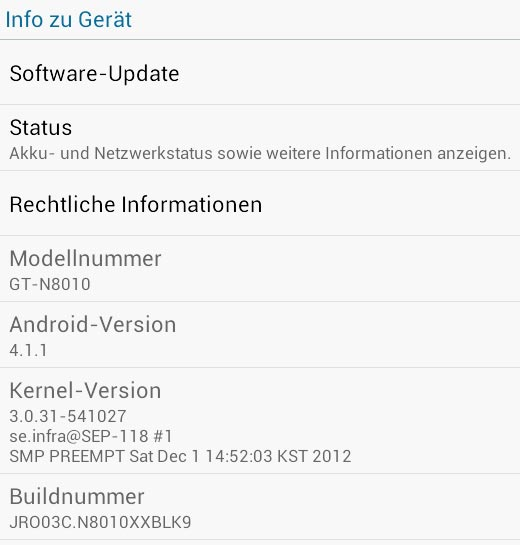 Geräte Info Android 4.1.1