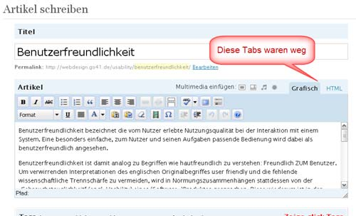 grafischer Editor WordPress