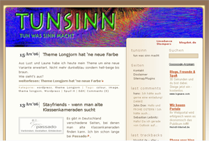 theme longjorn_II screenshot